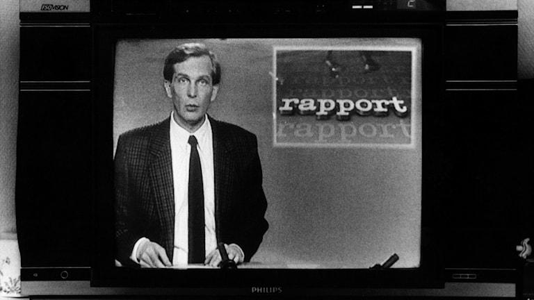 Claes Elfsberg i rutan 1989. Foto: Svenskt Pressfoto/TT