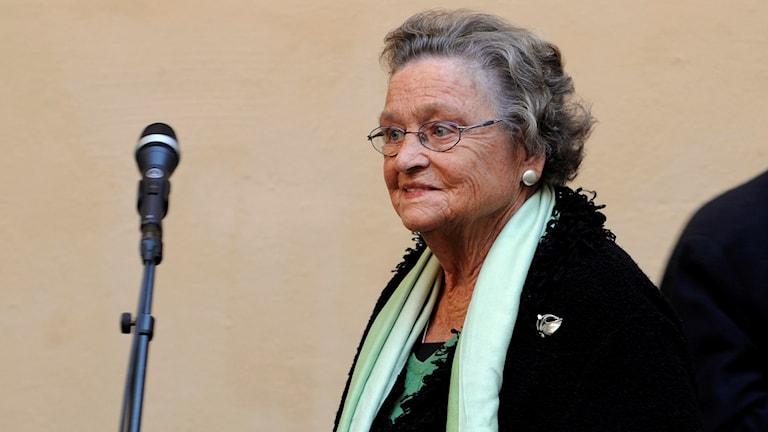 Sveriges första kvinnliga partiledare för ett riksdagsparti, Karin Söder, har gått bort. Foto: Bertil Ericson/TT