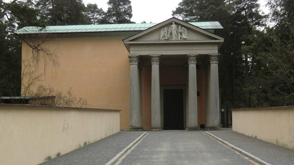 Uppståndelsekapellet på Skogskykogården i Stockholm, som Sigurd Lewerentz ritat. Foto: Leif Eriksson/Sveriges Radio