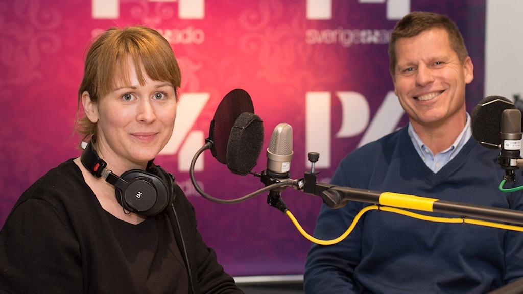 Johanna Look och Patrik Westander. Foto: Åsa Stöckel/Sveriges Radio