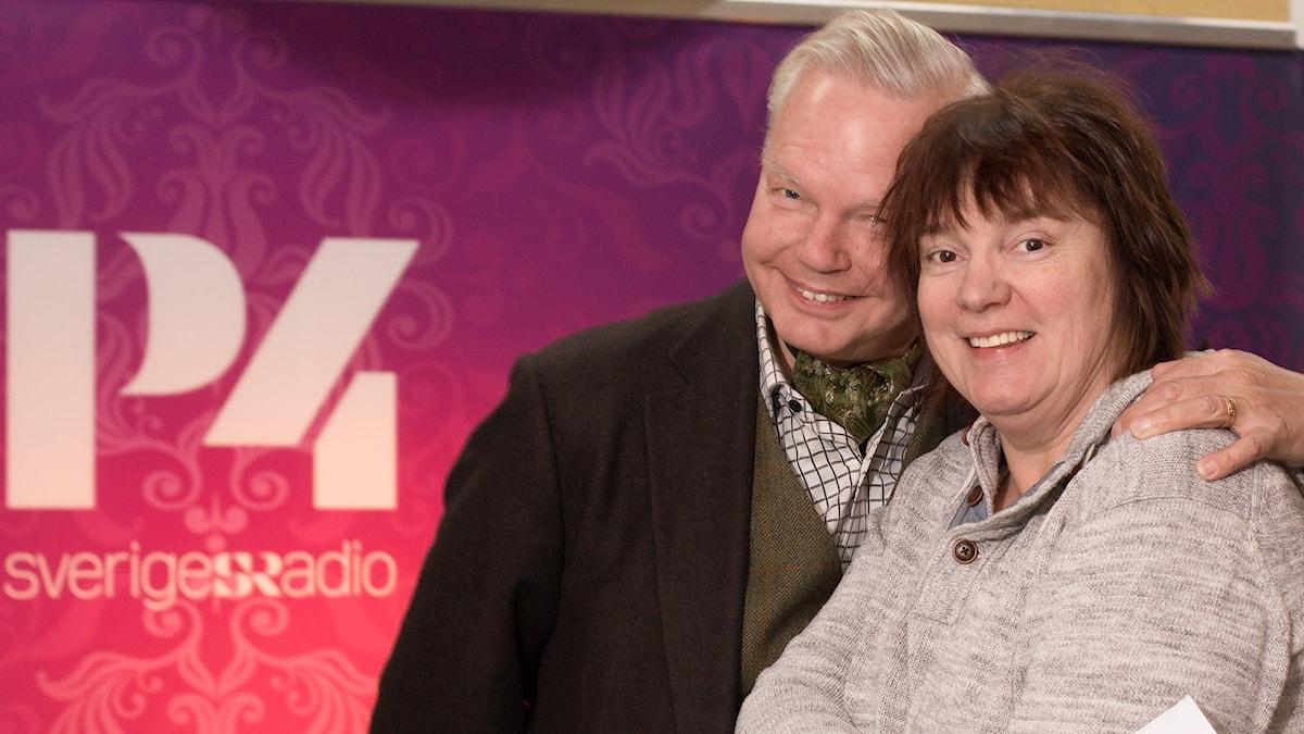 Lotta Bromé och Carl Jan Granqvist. Foto: Åsa Stöckel/Sveriges Radio