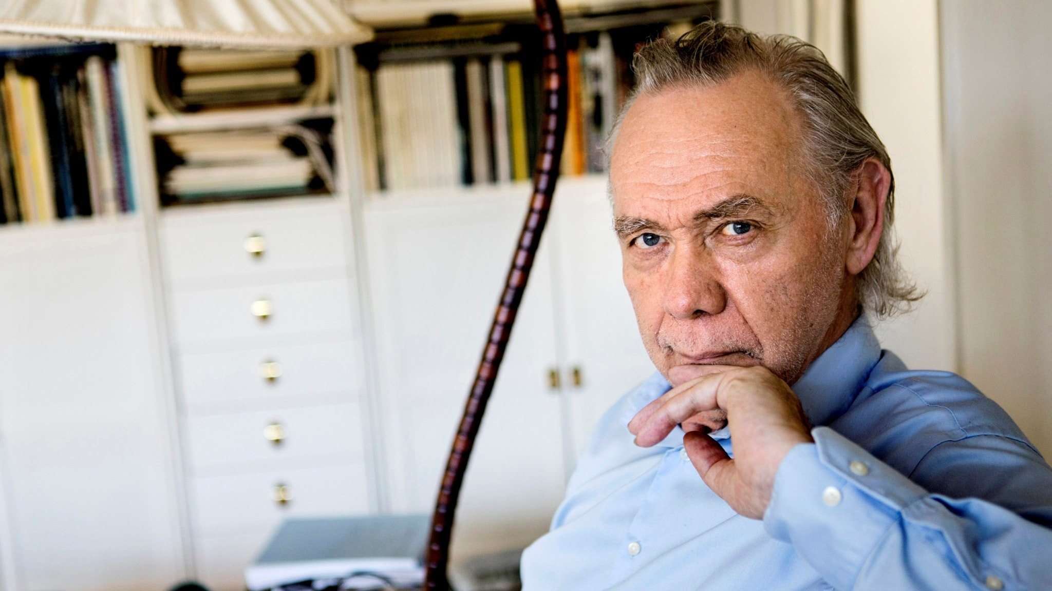 Kjell Alinge inför hans 70-årsdag. Foto: Christine Olsson/TT