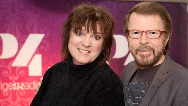 Lotta Bromé och Björn Ulvaeus. Foto: Åsa Stöckel/ Sveriges Radio