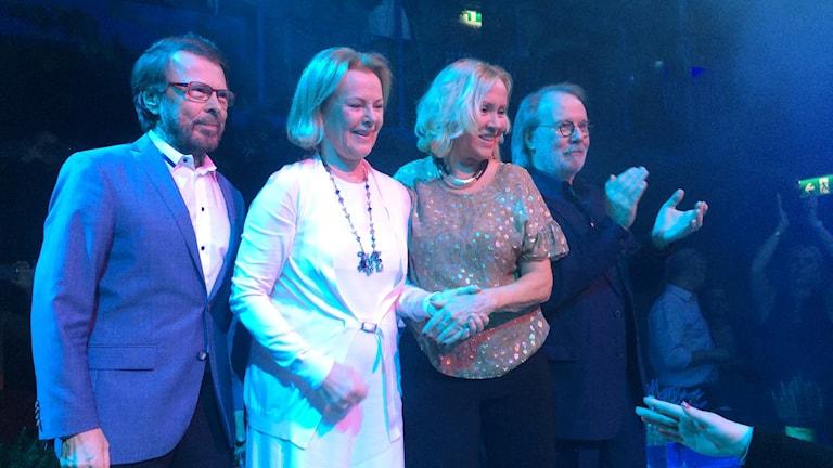 ABBA på scen tillsammans. Foto: Anders Westin/Westin Promotion/TT