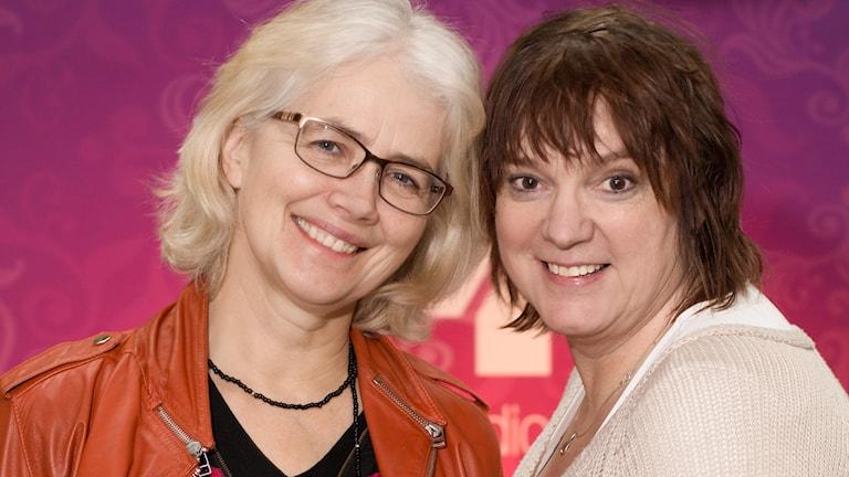 Marika Lagercrantz och Lotta Bromé. Foto: Åsa Stöckel/Sveriges Radio