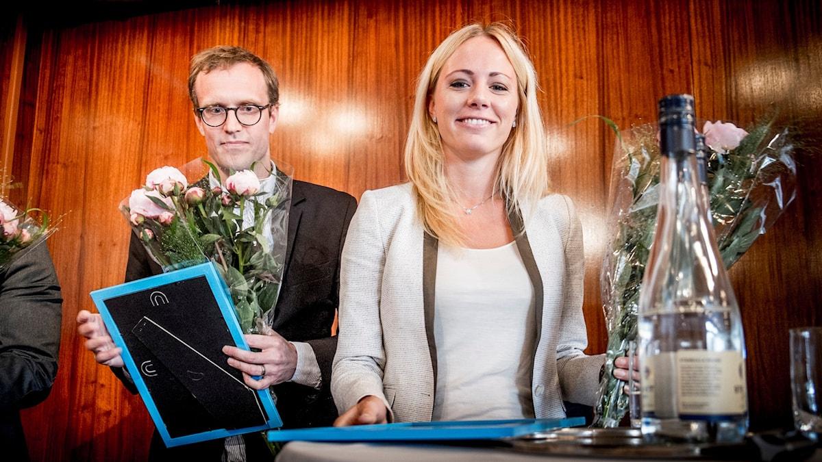 Carolina Neurath hyllas. Foto: Magnus Hjalmarson Neideman/TT