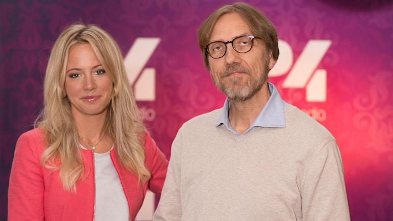 Carolina Neurath och Erik Blix. Foto: Åsa Stöckel/Sveriges Radio