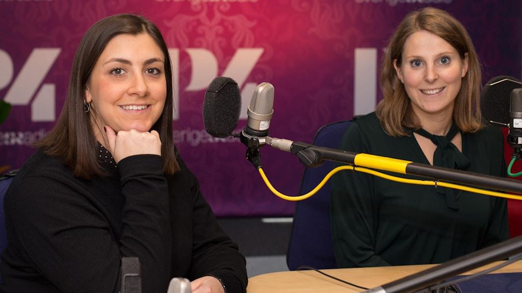 Adina Krantz och Nadine Gerson. Foto: Åsa Stöckel/Sveriges Radio