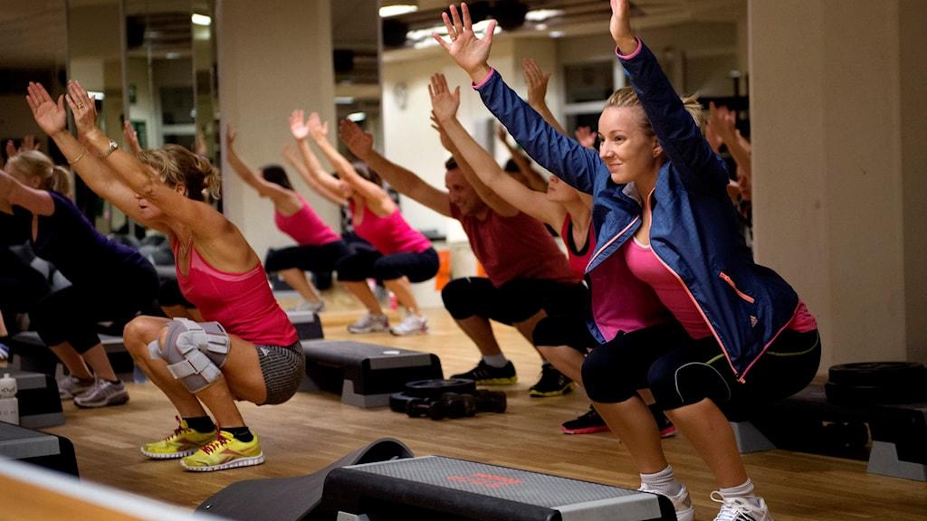 Gym-klass. Foto: Jessica Gow/TT