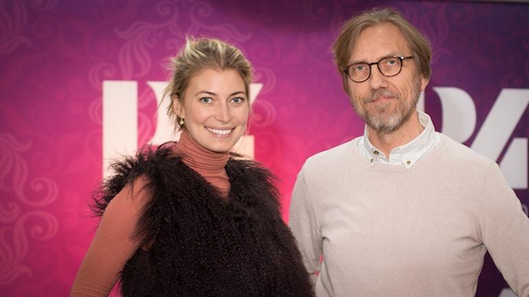 Cecilia Forss och Erik Blix. Foto: Åsa Stöckel/Sveriges Radio