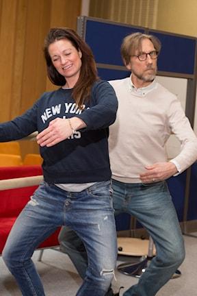 Erik Blix och Rebecka Åkerdahl. Foto: Åsa Stöckel/ Sveriges Radio