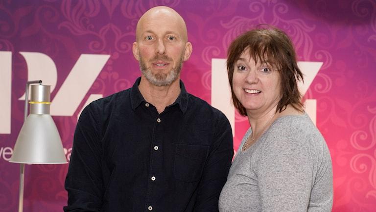 Erik Gandini och Lotta Bromé. Foto: Åsa Stöckel/Sveriges Radio