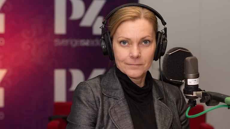 Lena Nitz, ordförande i Polisförbundet. Foto: Åsa Stöckel/ Sveriges Radio