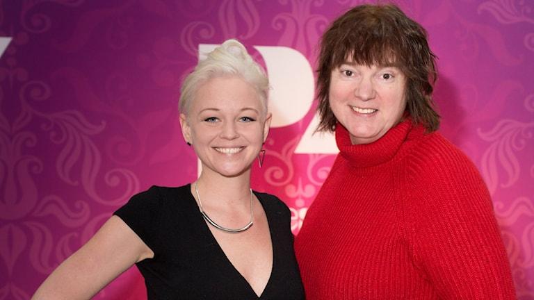 SaRaha Msanii och Lotta Bromé. Foto: Åsa Stöckel/Sveriges Radio