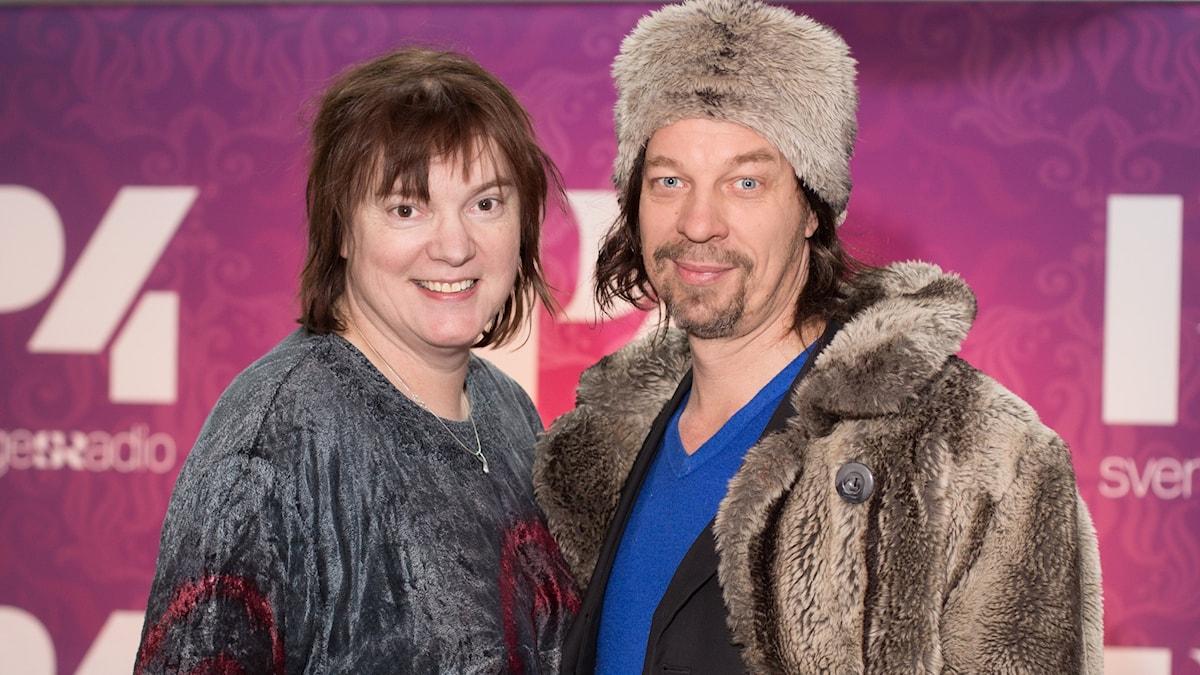 Bob Hansson och Lotta Bromé. Foto: Åsa Stöckel/Sveriges Radio