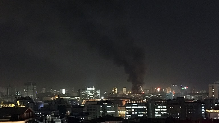 En bomb i Ankara. Foto: IHA/AP Photo/TT