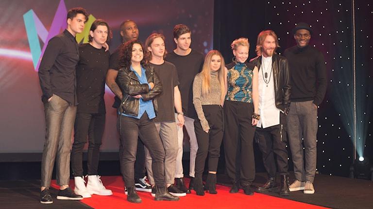 Melodifestivalens tredje startfält. Foto: Åsa Stöckel/Sveriges Radio