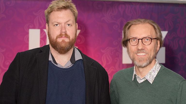 Kristoffer Appelquist och Erik Blix. Foto: Åsa Stöckel/Sveriges Radio.
