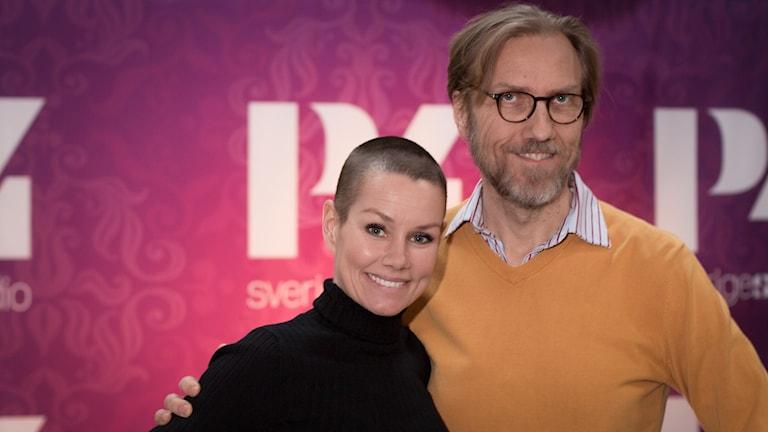 Linda Bengtzing och Erik Blix. Foto: Åsa stöckel/Sveriges Radio