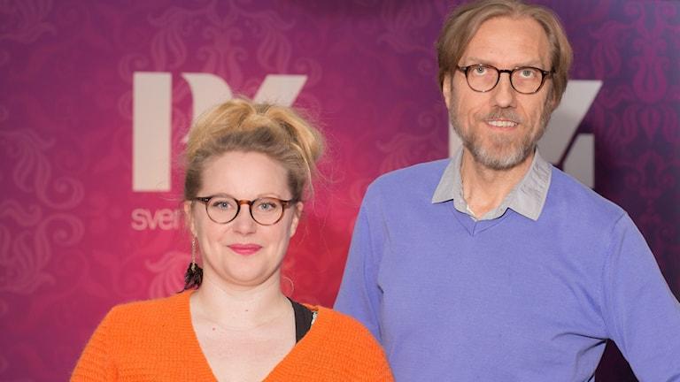 Jenny Lindh och Erik Blix.  Foto: Åsa Stöckel/Sveriges Radio