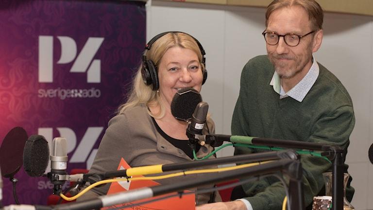 Annika Creutzer och Erik Blix. Foto: Åsa Stöckel/ Sveriges Radio