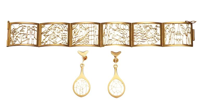 Armband och örhängen, design Sigurd Persson.