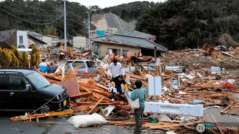 Fukushima raserade hus