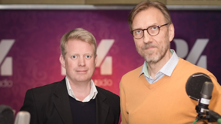 Thomas Helleday och Erik Blix. Foto: Åsa Stöckel/Sveriges Radio
