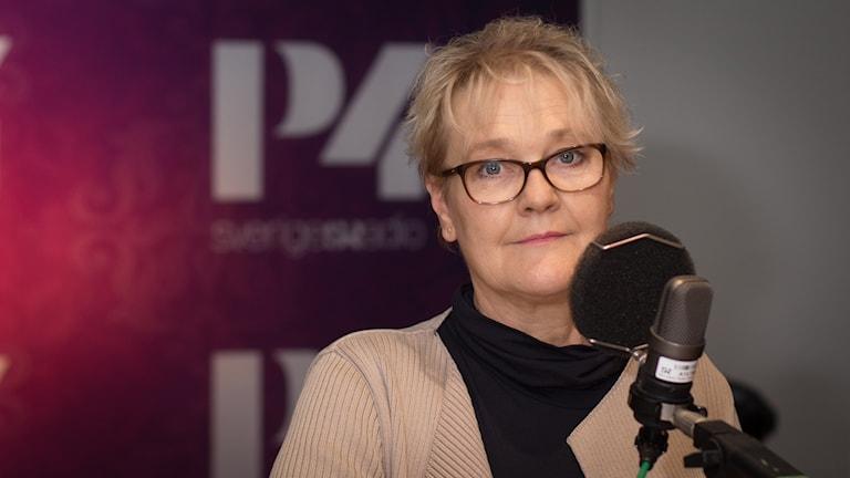 Kristina Fritjofsson, ordförande Sveriges farmaceuter. Foto: Åsa Stöckel/Sveriges Radio