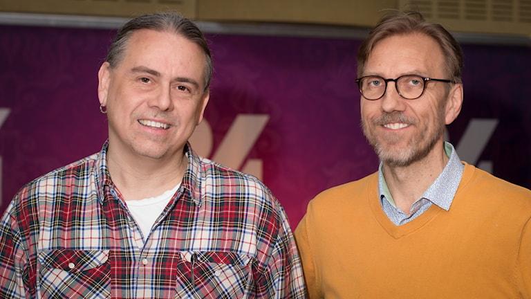 Christer Sturmark och Erik Blix. Foto: Åsa Stöckel/Sveriges Radio