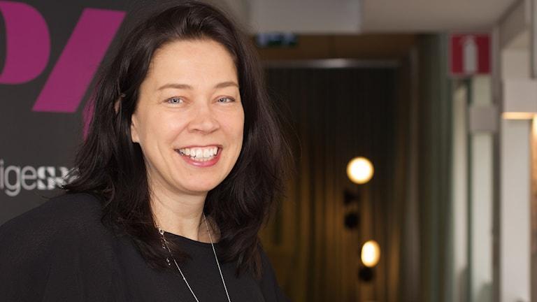 Marie Lundström, programledare för Lundströmsbokradio i P1. Foto: Åsa Stöckel/Sveriges Radio