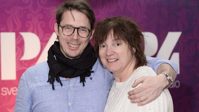 Ola Lindholm och Lotta Bromé. Foto: Åsa Stöckel/Sveriges Radio