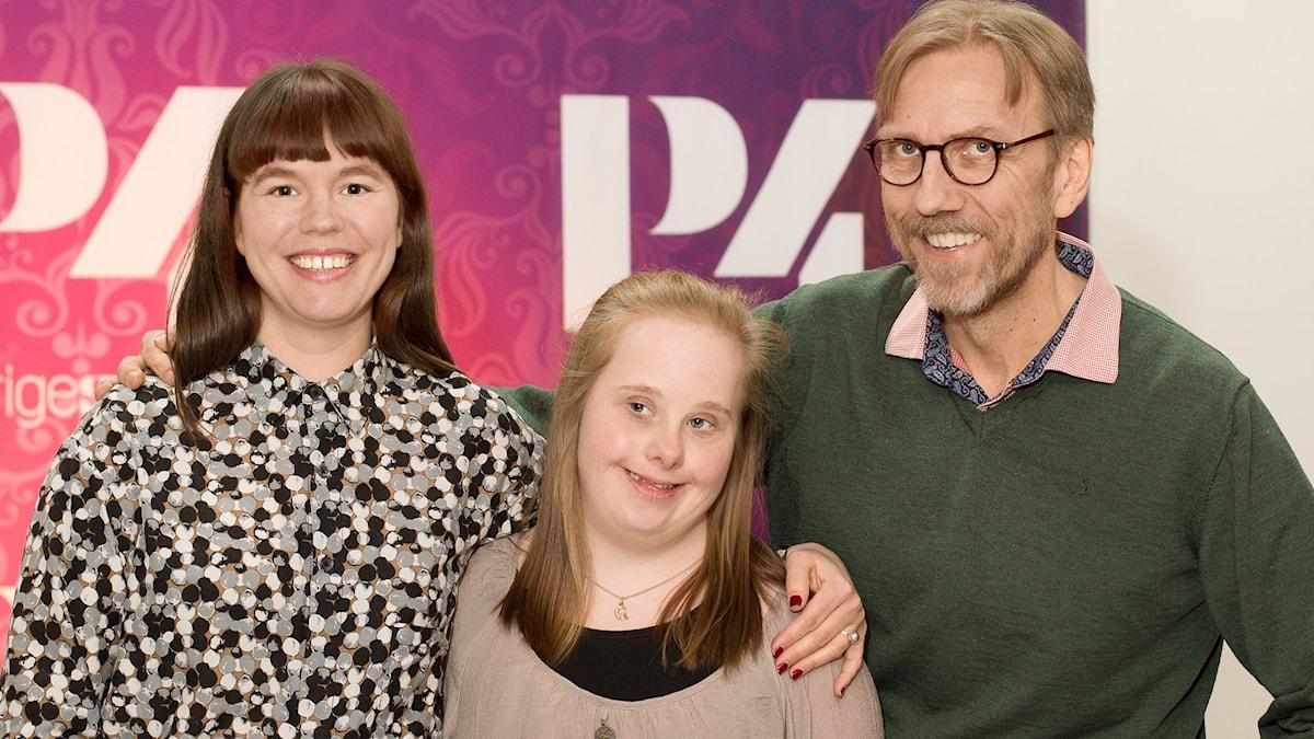 Pauline Benthede, Ida Johansson och Erik Blix. Foto: Åsa Stöckel/Sveriges Radio.