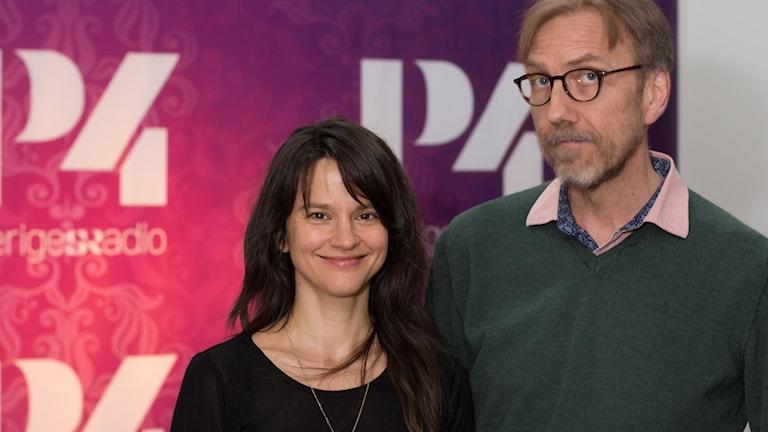 Melinda Kinnaman och Erik Blix. Foto: Åsa Stöckel/Sveriges Radio