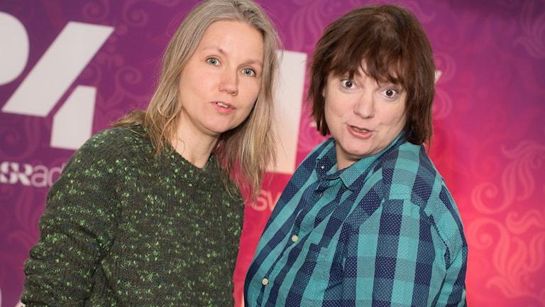 Tova Magnusson och Lotta Bromé. Foto: Åsa Stöckel/Sveriges Radio.