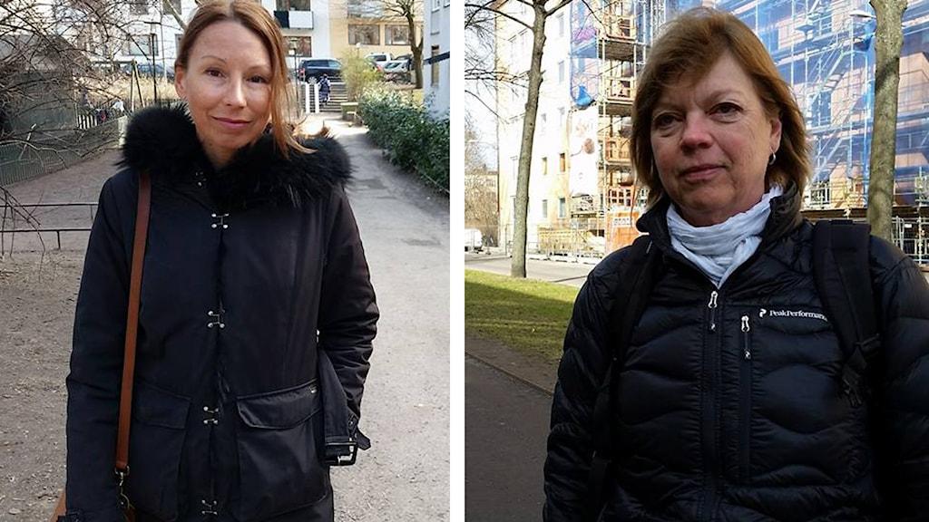 Mikaela Sonck och Elisabeth Hertvik. Foto: Marilén Karlsson Sjöberg/Sveriges Radio