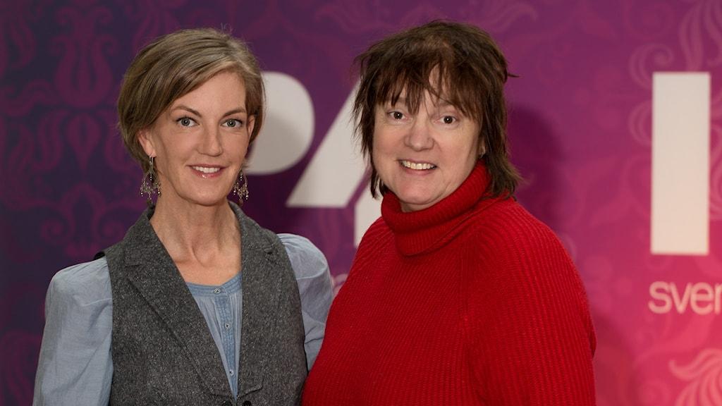 Kajsa Ingemarsson och Lotta Bromé. Foto: Åsa Stöckel/Sveriges Radio