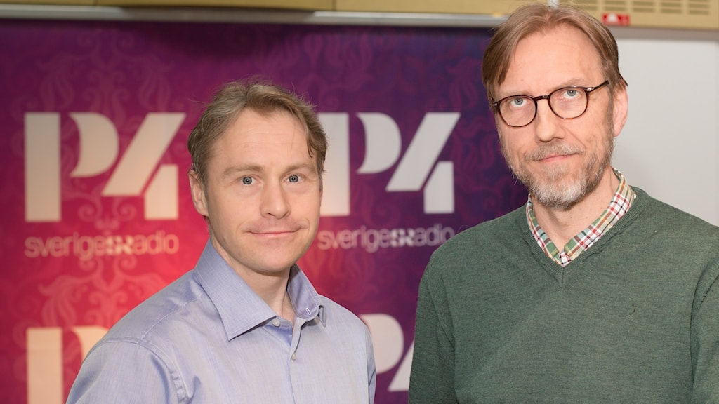 Per Carlbring och Erik Blix. Foto: Åsa Stöckel/Sveriges Radio.