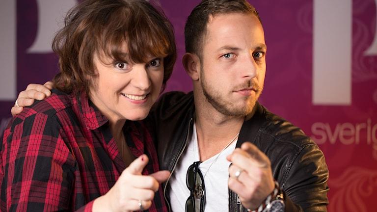 James Morrison och Lotta Bromé. Foto: Åsa Stöckel/Sveriges Radio