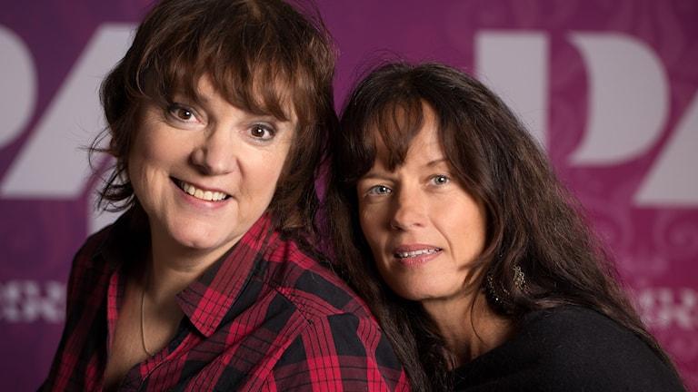 Malin Berghagen och Lotta Bromé. Foto: Åsa Stöckel/Sveriges Radio