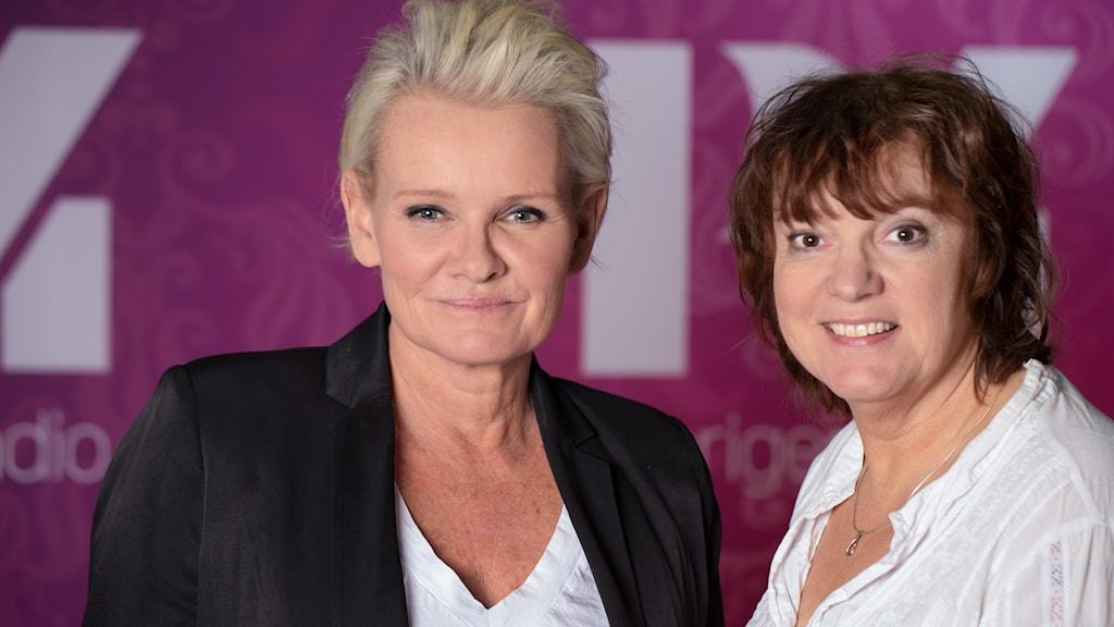 Eva Dahlgren och Lotta Bromé. Foto: Åsa Stöckel/Sveriges Radio.
