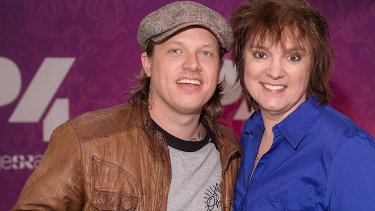 Robert Pettersson och Lotta Bromé. Foto: Åsa Stöckel/Sveriges Radio