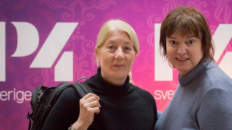 Lotta Tejle och Lotta Bromé. Foto: Åsa Stöckel/Sveriges Radio