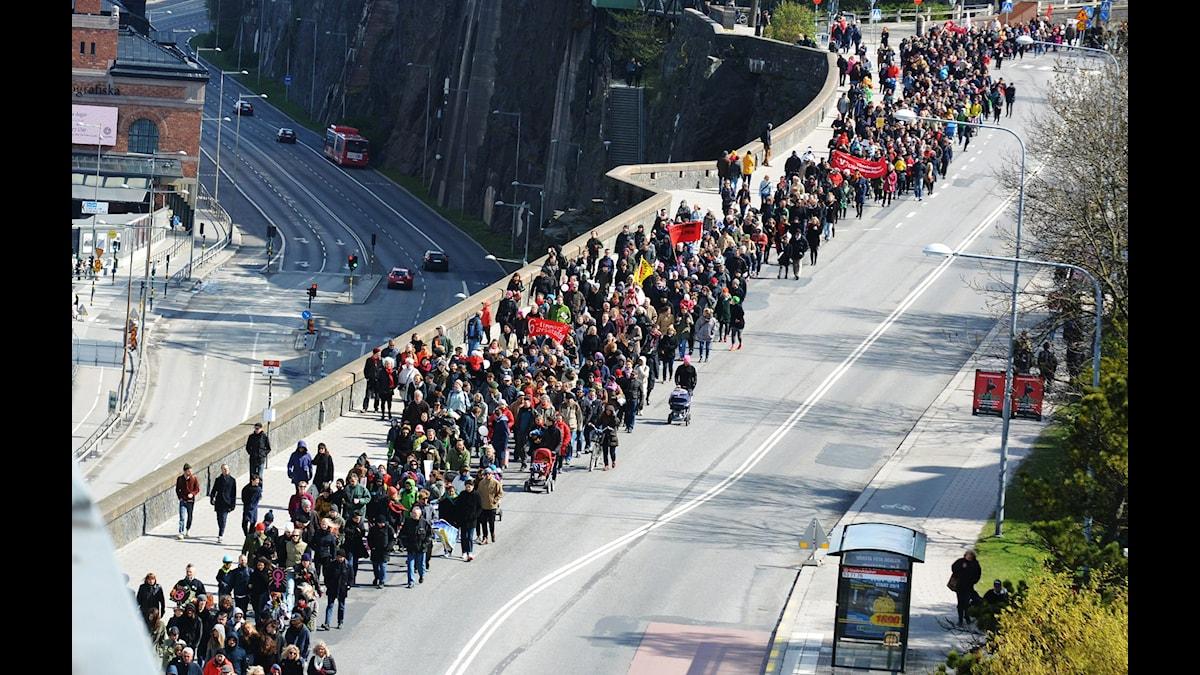 Demonstration på första maj