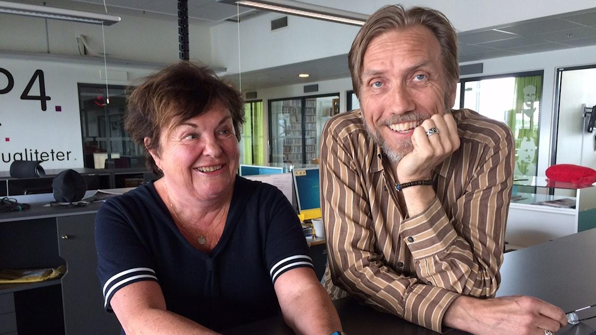 Viveca Lärn och Erik Blix
