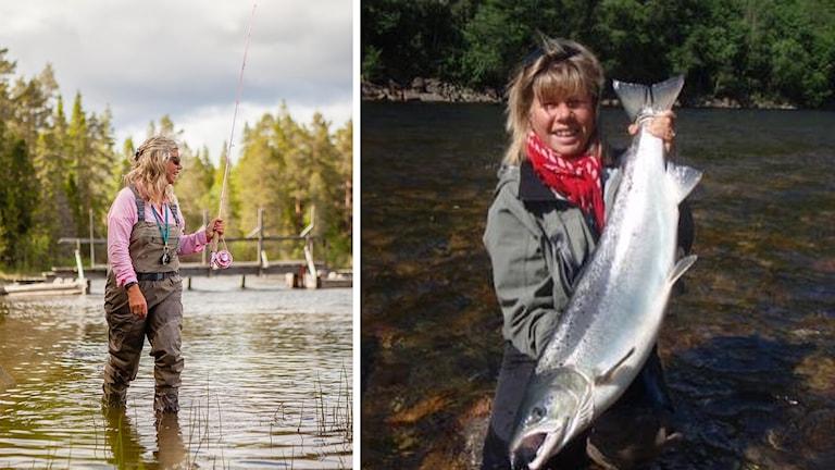 Sivan Jansson från Fjällorna fiskklubb