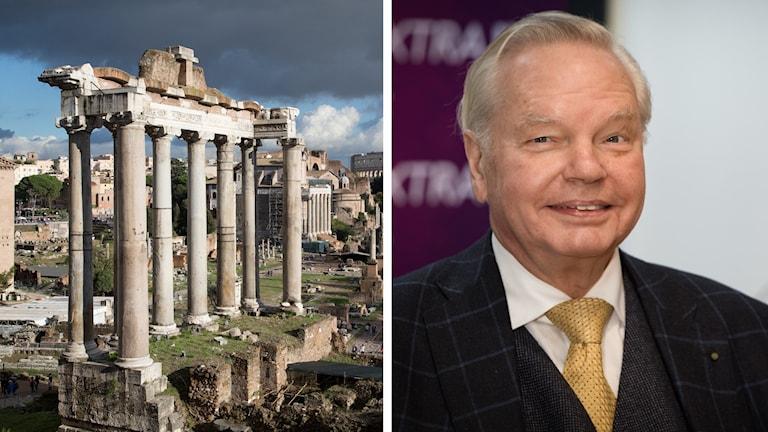 Carl Jan Granqvist och ruiner i Rom