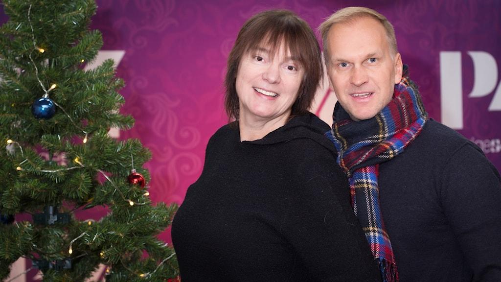 Gabriel Forss och Lotta Bromé. Foto: Åsa Stöckel/Sveriges Radio