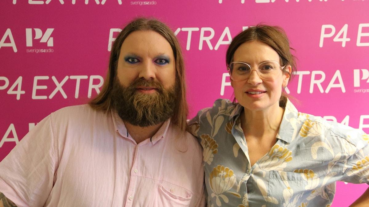 Rickard Söderberg med Susanna Dzamic.