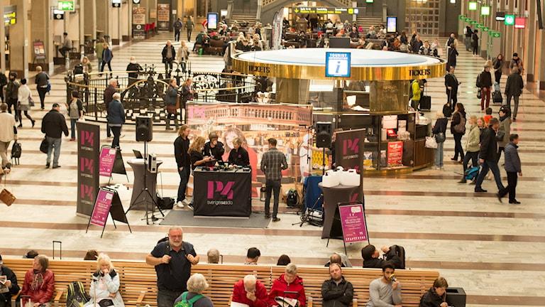Interiörbild från T-centralen. Foto: Åsa Stöckel/Sveriges Radio